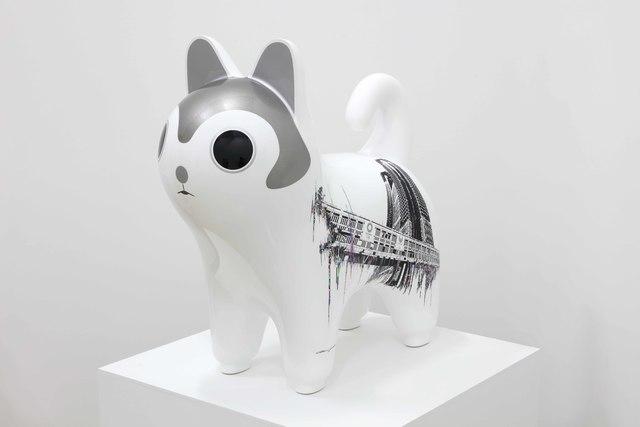 Akira Yoshida, 'Inu Hariko -Metoropolis without scenery- Ikebukuro Marui', 2020, Sculpture, Aluminum casting, urethane paint, PCV film, Mizuma Art Gallery