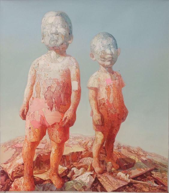 , '两个小孩 The two children ,' 2011, Linda Gallery