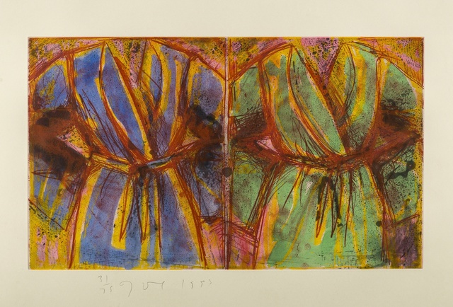 Jim Dine, 'Behind the Thicket (Carpenter 68)', 1993, Print, Woodcut, with etching and aquatint extensively hand-coloured in gouache, Forum Auctions