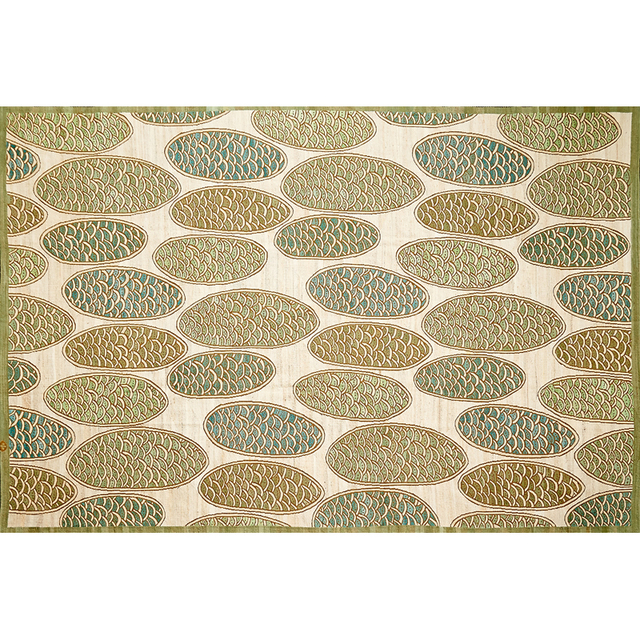 'Contemporary Wool Flatweave Rug With French Accents', Rago/Wright