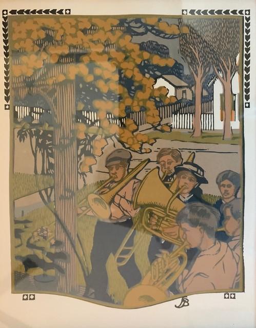 Gustave Baumann, 'The Band aka June', 1910, Other, Woodcut, Leviton Fine Art
