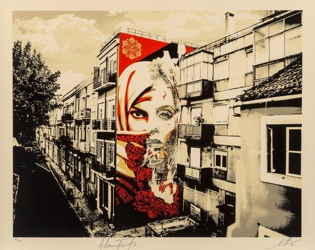 Shepard Fairey, 'Obey/Vhils Universal Personhood Lisbon', 2018, Heritage Auctions