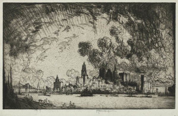 Joseph Pennell, 'New York, From Brooklyn', 1915, Childs Gallery