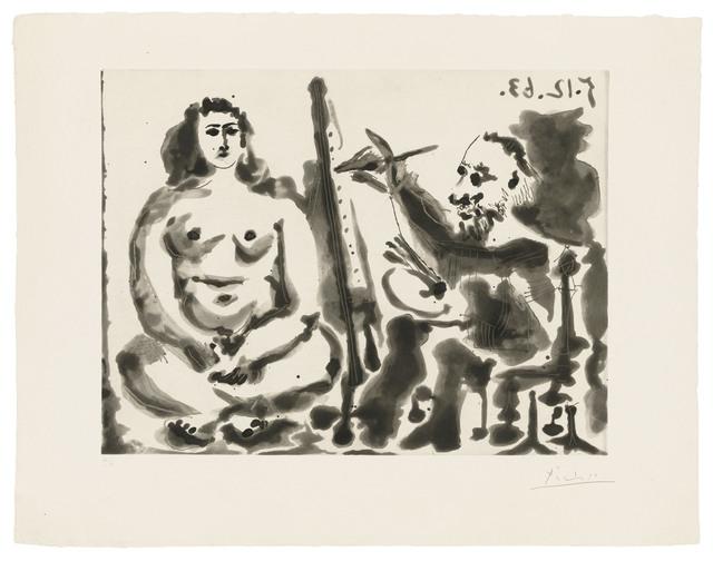 Pablo Picasso, 'Peintre et modèle IV', 1963, Christie's