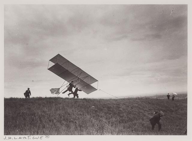 Jacques Henri Lartigue, '[Zissou takes off his ZYX 24, Rouzat]', 1910, Photography, Gelatin silver print print, Doyle