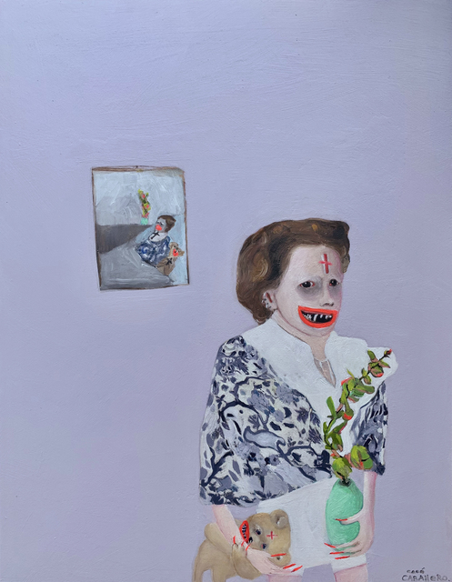 Cocó Caballero, 'Marcada', 2020, Painting, Oil on wood, Isabel Croxatto Galería