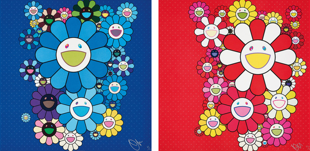 Takashi Murakami, 'Blue Velvet; and Rose Velvet', 2016, Phillips