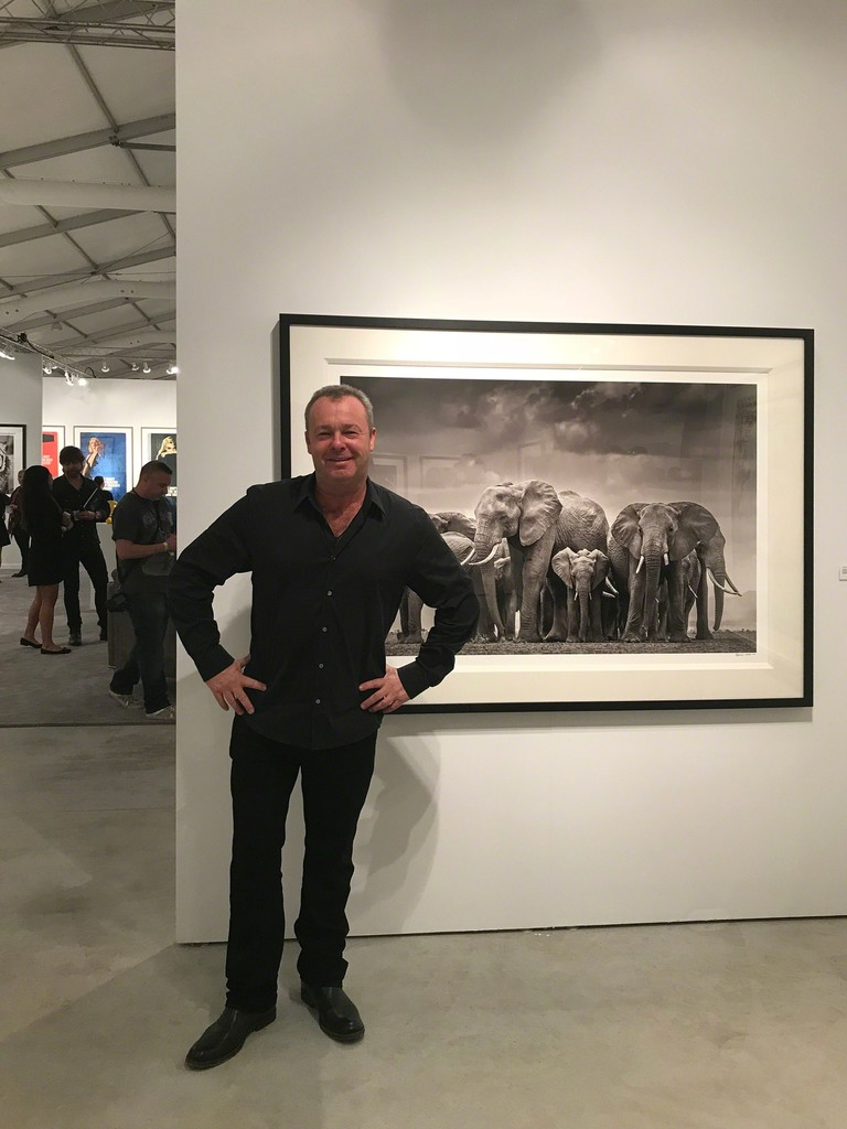 David Yarrow came to see us at the fair: 