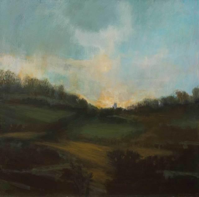 , 'Evening Fields,' 2017, Mall Galleries