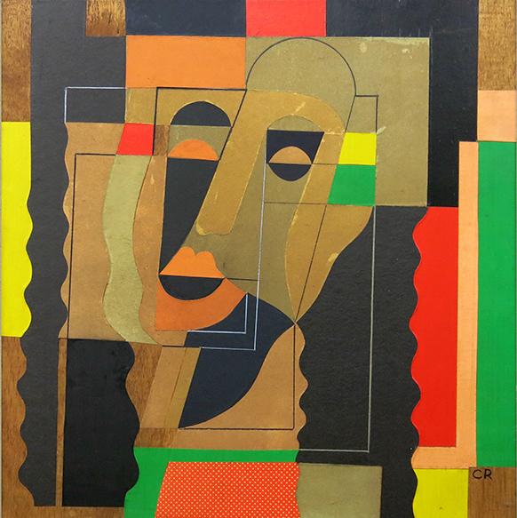 , 'Serie Papeles Pegados (Cabeza),' 1960, Fernando Pradilla/El Museo