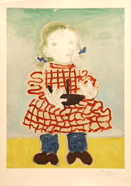 Pablo Picasso, 'Picasso (after) - Maya in a Pinafore- Handsigned Lithograph', 1965, Galerie Philia