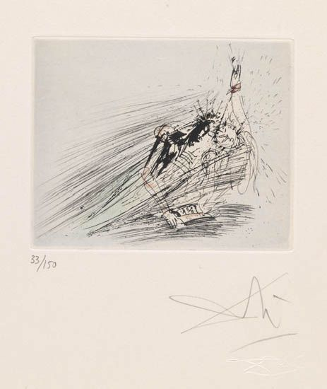Salvador Dalí, 'Faust and Marguerite', 1968, Print, Original drypoint etching, Galerie d'Orsay