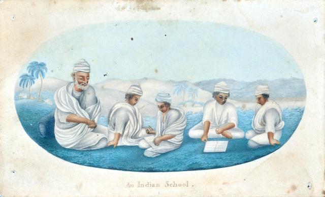 , 'An Indian school,' , Swaraj Art Archive