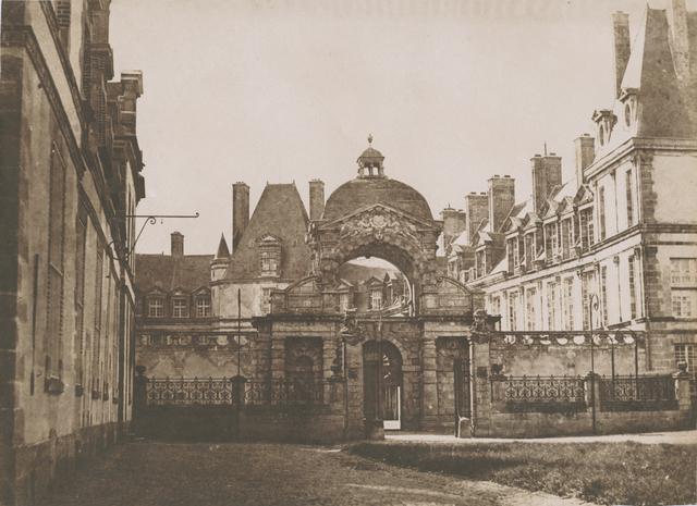 Gustave Le Gray, 'Château de Fontainebleau, la porte du baptistère de la cour ovale, vue depuis la cour des offices', 1850c/1850c, Contemporary Works/Vintage Works