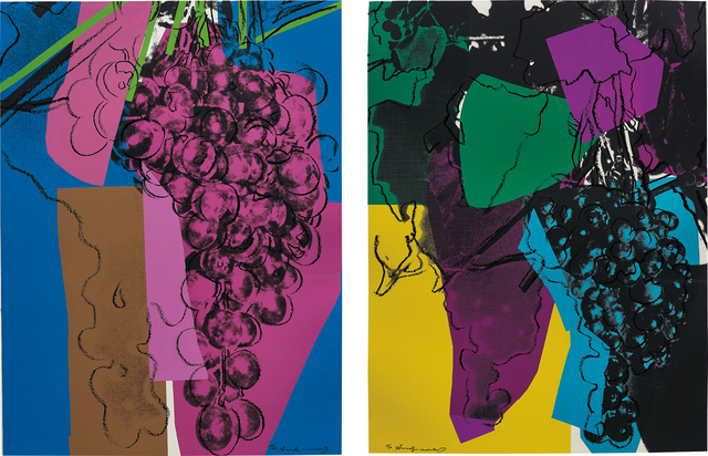 Andy Warhol, '2 works; (i-ii) Grapes', 1979, Phillips
