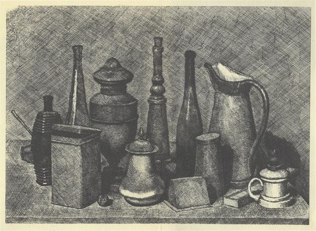 , 'Grande natura morta con la lampada a destra,' 1928, Galleria d'Arte Maggiore G.A.M.