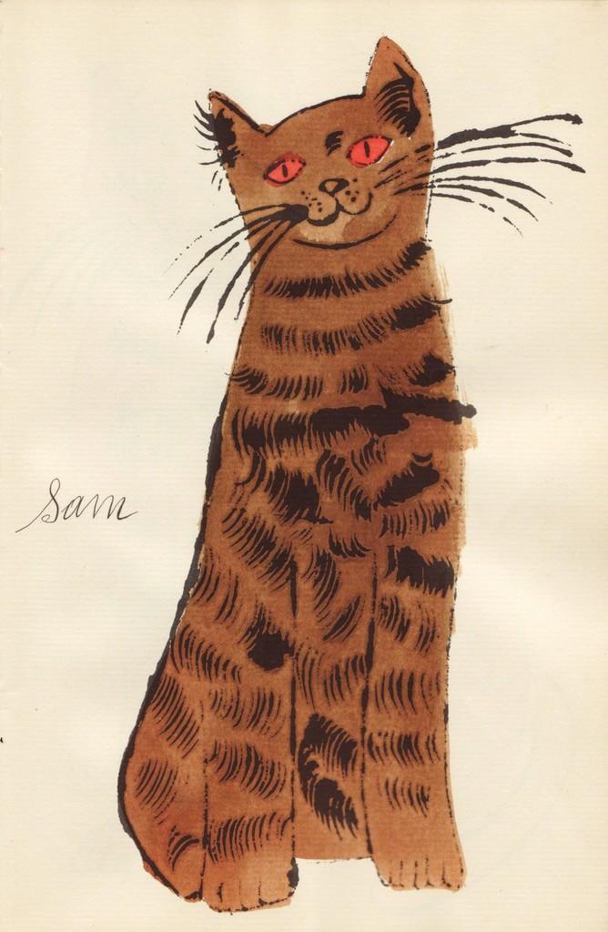 Andy Warhol, '(Brown Sam with Orange Eyes),' ca. 1954, Sims Reed Gallery