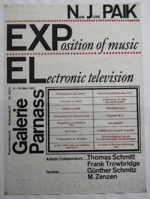 , 'Exposition of Music – Electronic Television: Exhibition Poster,' 1963, Nam June Paik Art Center