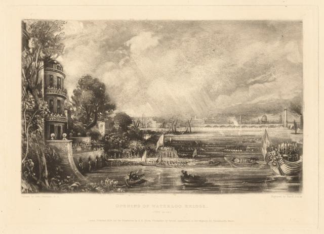 , 'Opening of Waterloo Bridge,' 1838, Clark Art Institute