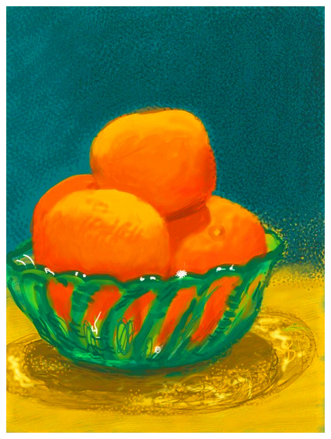 David Hockney, 'Oranges', 2010, Oliver Clatworthy