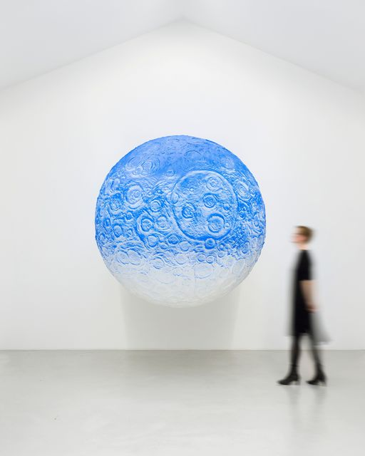 Daniel Arsham, 'Moon', 2017, Painting, Plaster, metal, paint, Perrotin