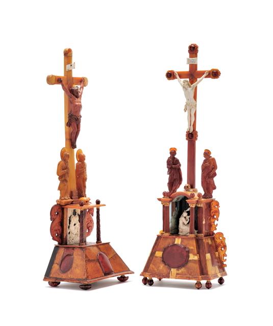 , 'Two amber altars ,' North East German, probably Danzig, ca 1680, Kunstkammer Georg Laue