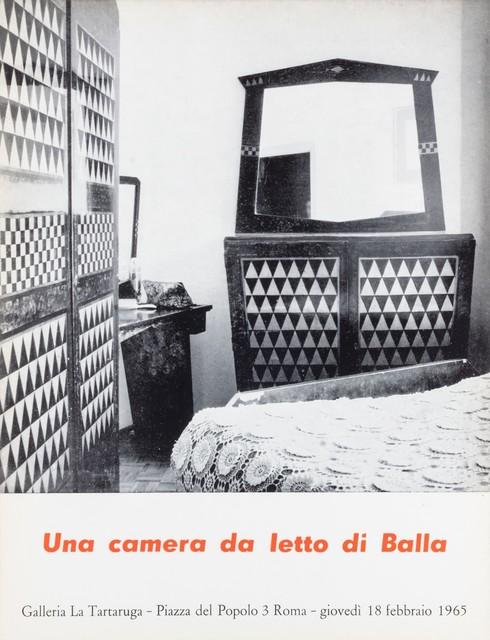 Giacomo Balla, 'Una camera da letto di Balla', 1965, Finarte