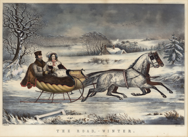 , 'TheRoad, - Winter.,' 1853, The Old Print Shop, Inc.
