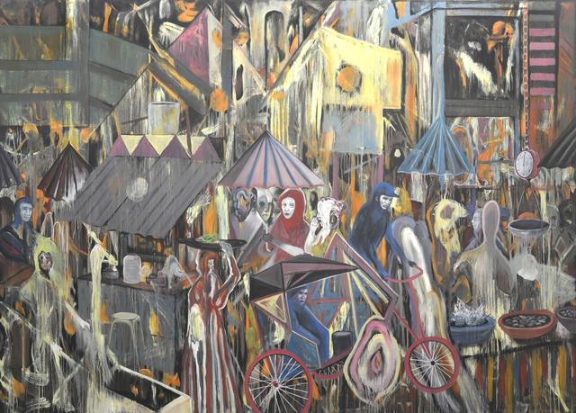 , 'The Market Chaos,' 2018, Ayala Museum