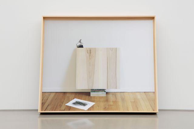 Leslie Hewitt, 'Untitled (Dreambook or Axis of the Ellipse)', 2019, Photography, Digital chromogenic print in custom elm frame, Perrotin