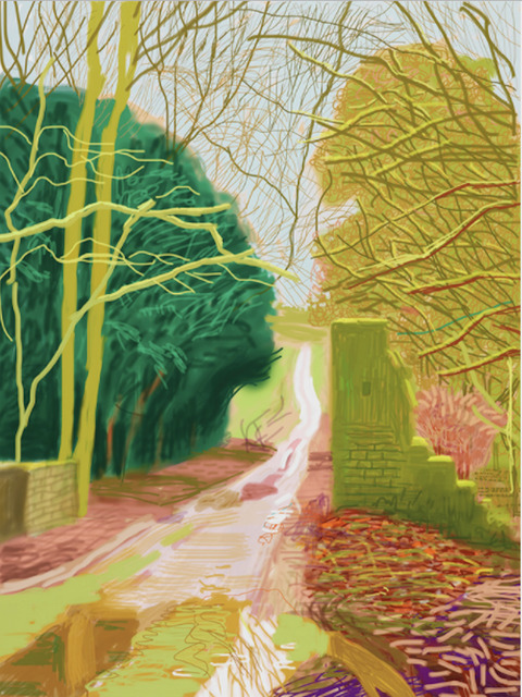 David Hockney, 'The Arrival of Spring in Woldgate, East Yorkshire in 2011 - 29 January', 2011, Dallas Collectors Club