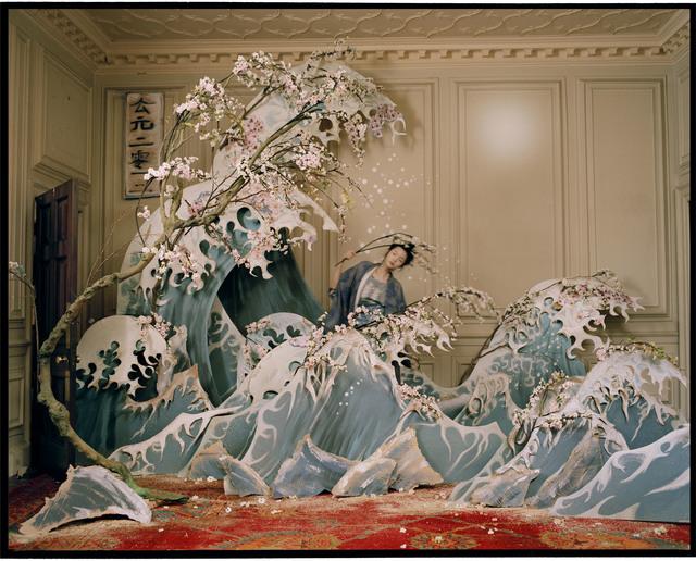 , 'Xiao Wen Ju with Hokusai's Great Wave of Kanagawa, Eglingham, Northumberland,' 2012, Michael Hoppen Gallery