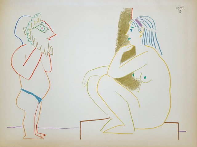 Pablo Picasso, 'La Comedie Humaine', 1954, Print, Lithograph, Graves International Art