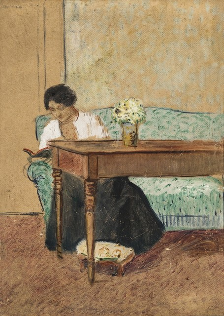 , 'Elisabeth Reading on Green Sofa,' 1908, Galerie Thomas
