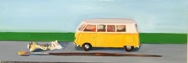 , 'Yellow Painted Bus ,' 2016, Judy Ferrara Gallery
