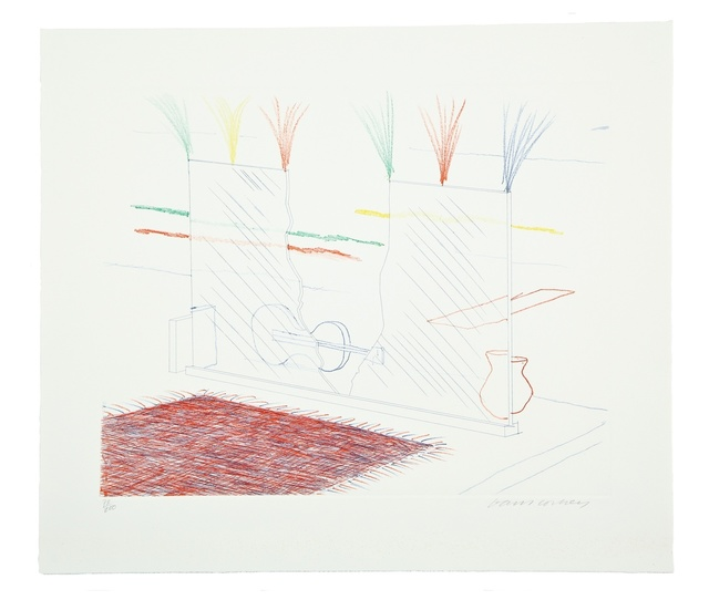 David Hockney, 'On it May Stay His Eye (from The Blue Guitar) (M.C.A. Tokyo 194)', 1976-1977, Forum Auctions