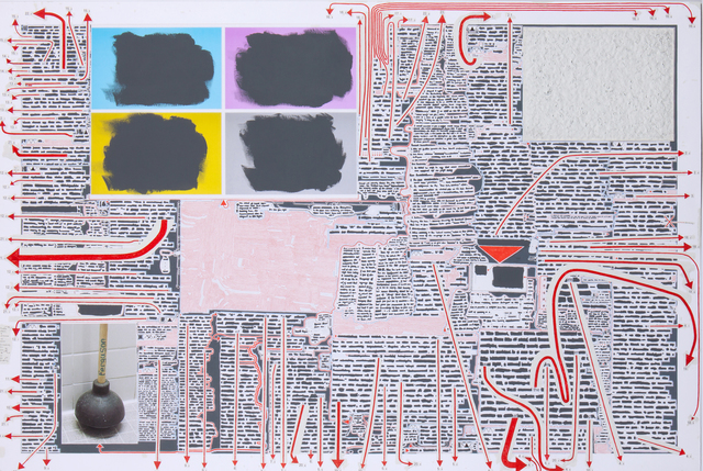 Matthew Sontheimer, 'An Awkward Ruling- Stutter Included', 2014, Drawing, Collage or other Work on Paper, Mixed media on paper, Talley Dunn Gallery