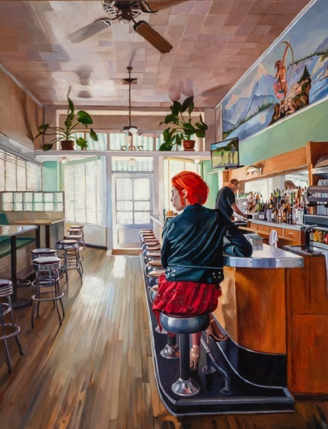 , 'Bar at the Paradise Cafe,' 2019, George Billis Gallery