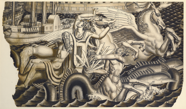 , 'Study for The Chariot of Poseidon Mural for the SS Normandie,' 1935, Stephen Ongpin Fine Art