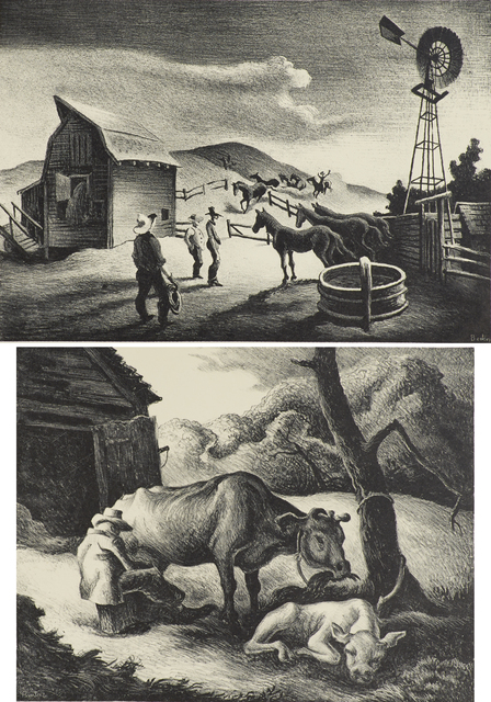 Thomas Hart Benton, 'Two works of art', Rago/Wright