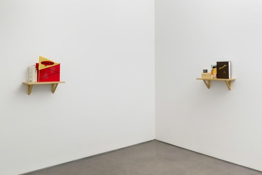 Installation view: MK Guth: Shout, Recount, Get Drunk, 2016. Photo by Etienne Frossard.