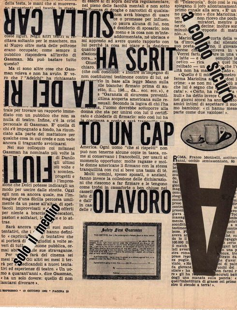 , 'Ha scritto ,' 1962, Galleria Michela Rizzo
