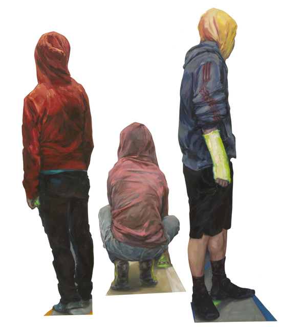 , 'Hoodies (group of 3 individual figure sculptures),' 2015, The Red Head Gallery