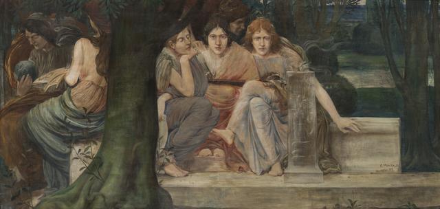 , 'Allégorie des genres littéraires, sd,' Not dated, Musée d'Ixelles