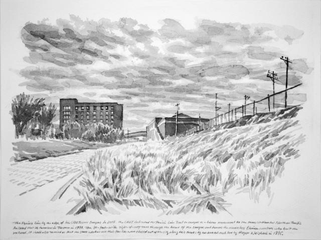 , 'The Prairie Line by the Edge of UWT,' 2017, Koplin Del Rio