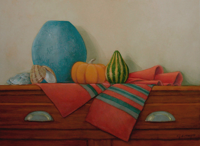 , 'Gourds with Blue Vase,' 2011, InLiquid