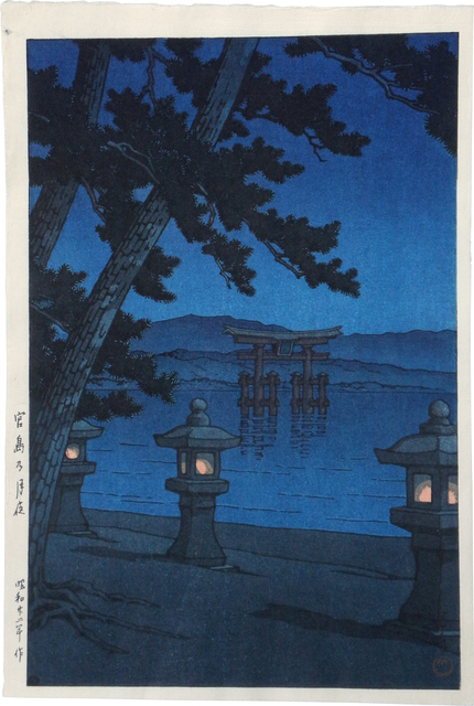 , 'Moonlit night, Miyajima,' 1947, Scholten Japanese Art
