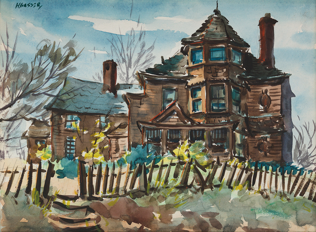 , 'House on the Hill,' , Questroyal Fine Art