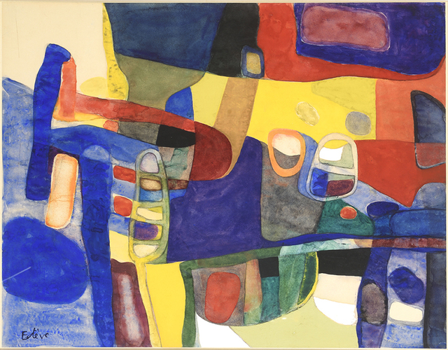 Maurice Estève, 'Untitled', 1957, Painting, Watercolor on paper, DIGARD AUCTION