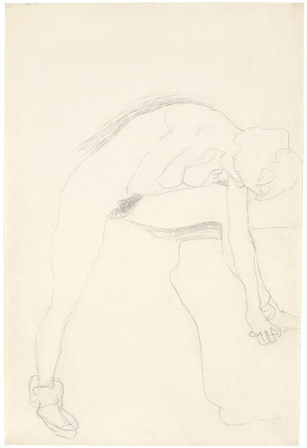 , 'Nude in Prifile Inclined to the Right with Leg Raised,' ca. 1907, Galerie Bei Der Albertina Zetter